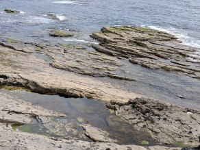 The dangerous rocks along Hook Peninsula