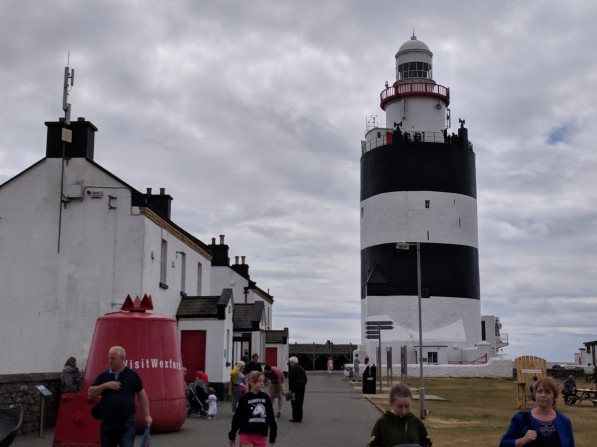 The lighthouse and lightkeeper's house (built later)