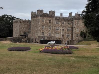 The back garden of the csatle