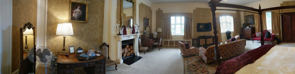 Our room had two fireplaces!